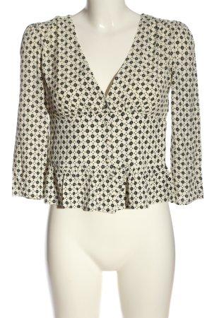 Ba&sh Koszulowa bluzka kremowy-czarny Na całej powierzchni W stylu casual
