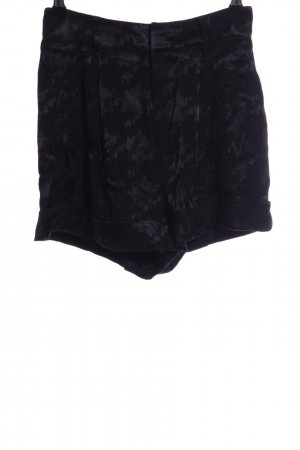 Ba&sh High-Waist-Shorts schwarz-hellgrau Casual-Look