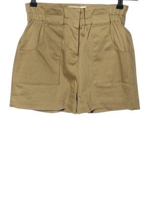 Ba&sh Pantaloncino a vita alta cachi stile casual