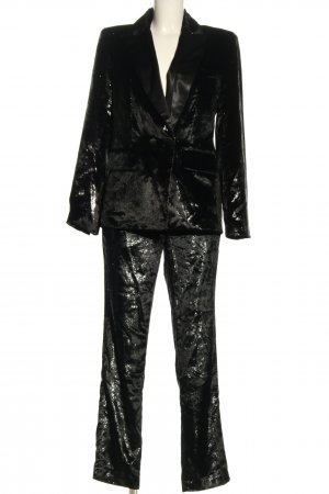 Ba&sh Tailleur pantalone nero-argento stile professionale