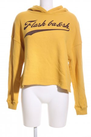 Ba&sh Hooded Sweater light orange printed lettering casual look