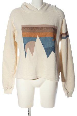 Ba&sh Bluza z kapturem Abstrakcyjny wzór W stylu casual