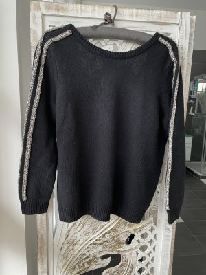 Ba&sh Cashmere Jumper black-silver-colored cashmere