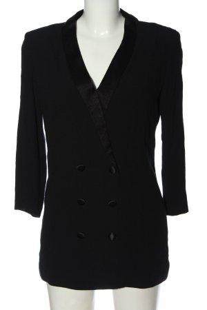 Ba&sh Klassischer Blazer czarny W stylu casual
