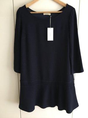 Ba&sh Sukienka z długim rękawem ciemnoniebieski Tkanina z mieszanych włókien