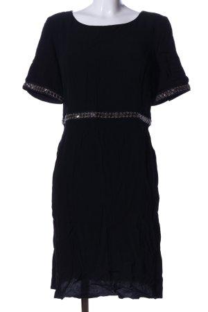 Ba&sh Sukienka z krótkim rękawem czarny Elegancki