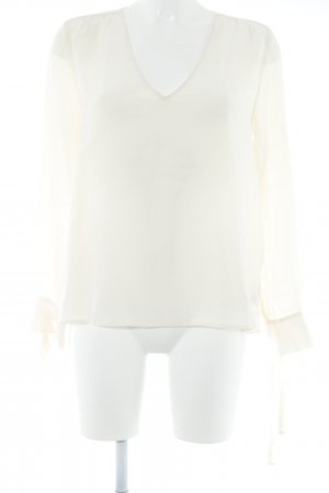 Ba&sh Langarm-Bluse creme Elegant
