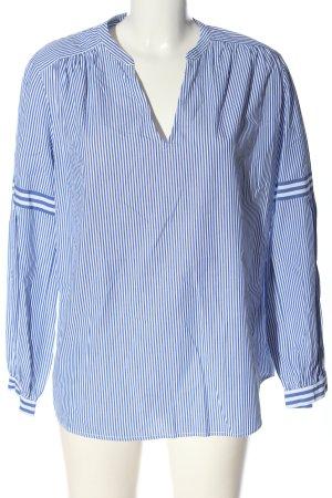 Ba&sh Blouse à manches longues bleu-blanc motif rayé style décontracté