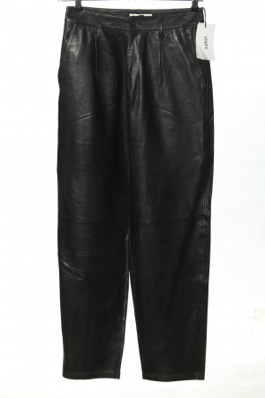 Ba&sh Lederhose schwarz Casual-Look
