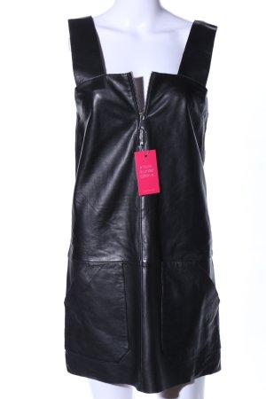 Ba&sh Vestito in pelle nero stile stravagante