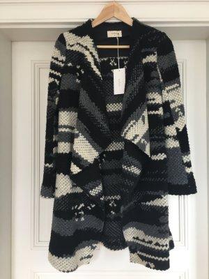 Ba&sh Wełniany płaszcz Wielokolorowy Tkanina z mieszanych włókien