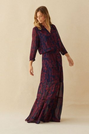 Ba&sh Vestido Hippie multicolor Viscosa