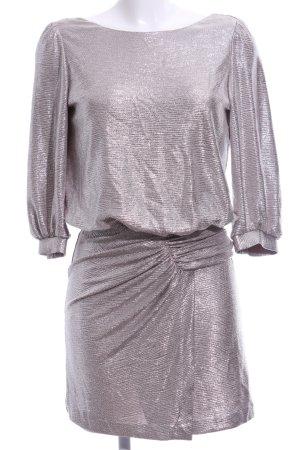 Ba&sh Sukienka mini srebrny Melanżowy Elegancki