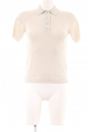 Ba&sh Polo-Shirt hellbeige-goldfarben Casual-Look