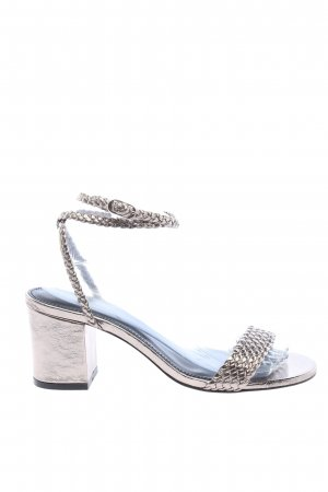 Ba&sh Strapped High-Heeled Sandals silver-colored elegant