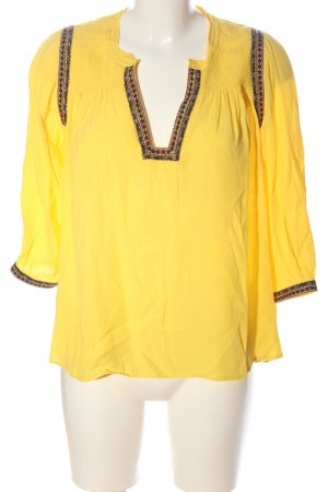 Ba&sh Bluzka przez głowę bladożółty Wyhaftowany logo W stylu casual