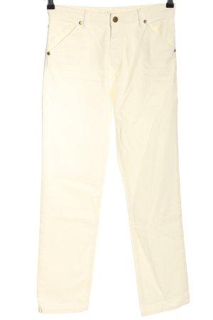 Ba&sh Dopasowane jeansy w kolorze białej wełny W stylu casual