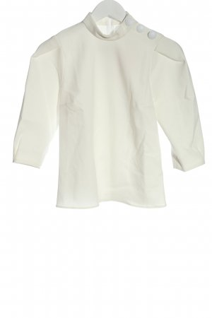 Ba&sh Bluzka ze stójką biały W stylu biznesowym