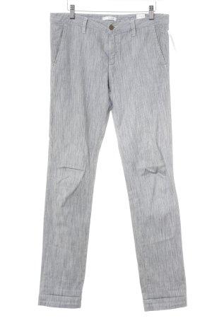 Ba&sh Pantalon en jersey blanc-bleu acier motif rayé style décontracté
