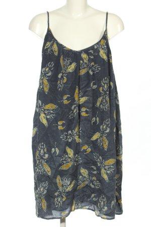 Ba&sh Abito scamiciato blu-giallo pallido motivo astratto stile casual