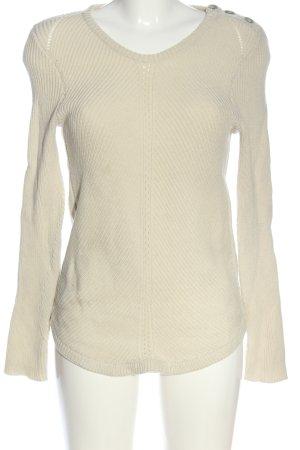 Ba&sh Sweter z dekoltem w kształcie litery V w kolorze białej wełny