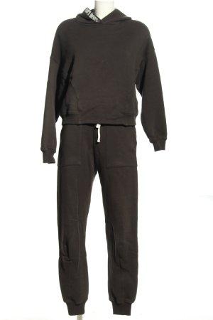 Ba&sh Podwójny zestaw z dżerseju czarny-biały Wydrukowane logo W stylu casual