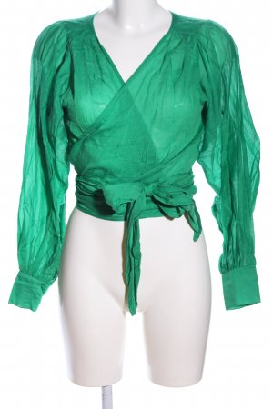 Ba&sh Wickel-Bluse grün Business-Look