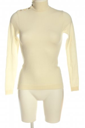 Ba&sh Maglione di lana crema-oro stile casual
