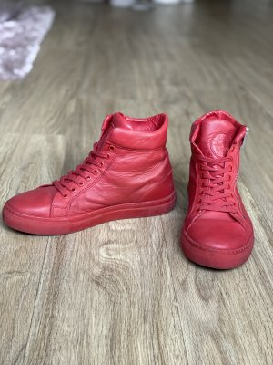 High Top Sneaker red-brick red