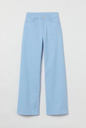 Baby blue high rise bootcut Hose high-waist