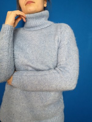 Baby blue Turtleneck