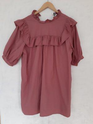 Influence Flounce Dress pink-magenta cotton
