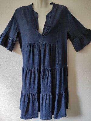 Robe Babydoll bleu coton