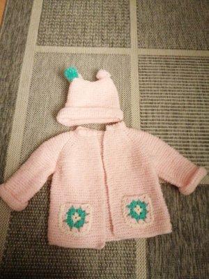 Woolen Dress light pink-baby blue