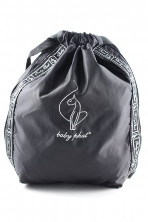 Baby Phat Pouch Bag black-white embroidered lettering casual look