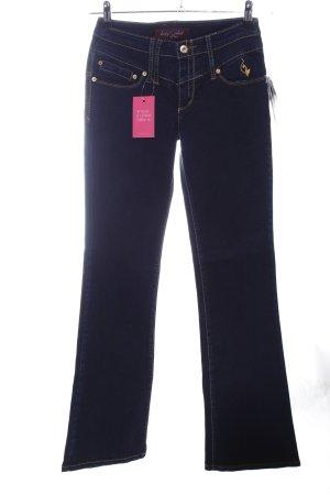 Baby Phat Boot Cut Jeans blau Business-Look