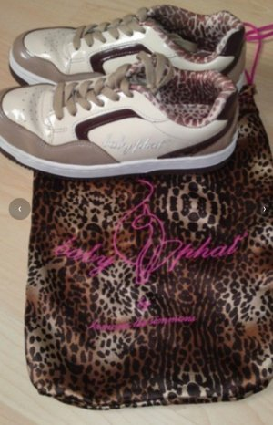 Baby Phat Lace-Up Sneaker light brown-beige