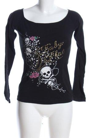 Baby Phat Koszulka z długim rękawem czarny-biały Nadruk z motywem