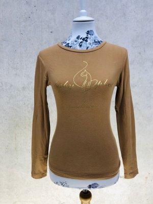 Baby Phat Longsleeve Langarm T-Shirt Top cognac braun gold dunkel beige Gr. S, ehr XS 34