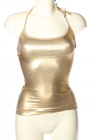 Baby Phat Halter Top gold-colored extravagant style