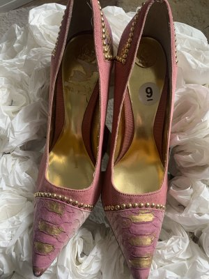 Baby Phat Pumps in Rosa mit goldenen Details Gr.9B/39-40 Ungetragen