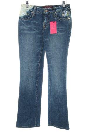 Baby Phat Straight-Leg Jeans blau Casual-Look