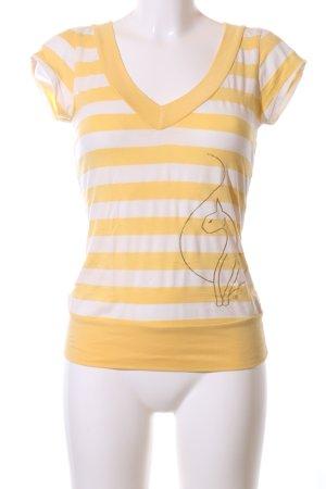 Baby Phat T-Shirt blassgelb-wollweiß Motivdruck Casual-Look