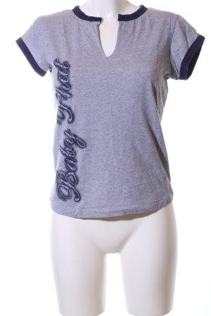 Baby Phat T-Shirt blau meliert Casual-Look