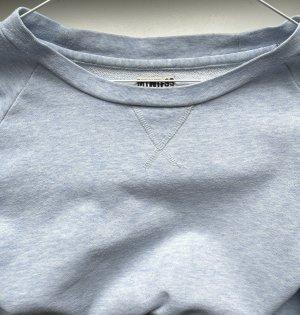Babyblauer Baumwoll- Pullover von Weekday