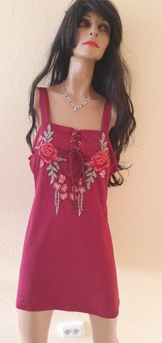 Sukienka typu babydoll bordo