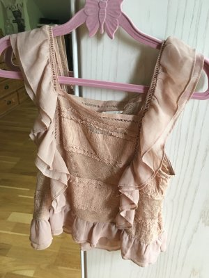 H&M Blouse en crash marron clair