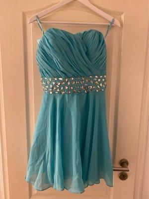 SheIn Sukienka typu babydoll turkusowy-baby blue