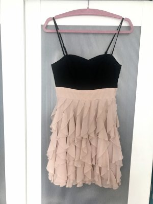 H&M Babydoll Dress black-dusky pink