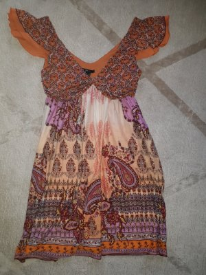 Babydoll Kleid India Orange